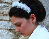 Antheia Hairband / Feel Like a Goddess / OOAK Handmade Fabric Flowers Hairband - Headband / Ideal for Spring and Summer
