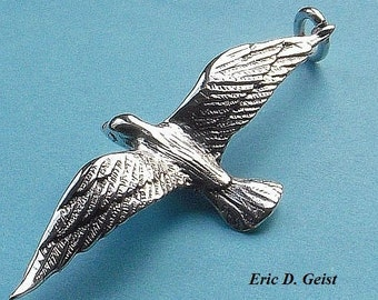 Albatross pendant in solid silver
