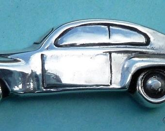 Volvo 544 in sterling silver keychain bob