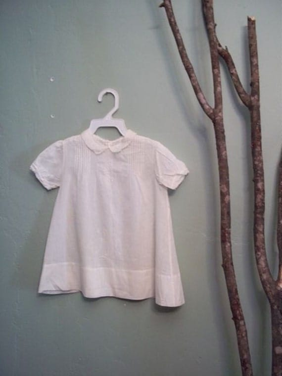Adorable Antique White Cotton Dress 24m-2T