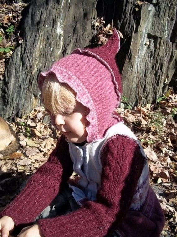 Upcycled Pink Sweater Jacket 2T-3T