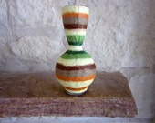 Striped earthy Home Vase / Earth Tones Home Decor / Bubble Vase