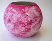 Stone Pink Bowl Vase /  Handcrafted Pink Home Decor / housewares