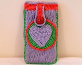 iPhone Cozy With Heart Front Pocket