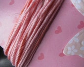 Hand dyed cotton twine, pink, 6 yards, with bonus tag
