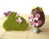 Easter egg and mossy bunny in 1/12 scale