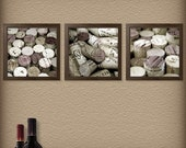 Red Wine Corks, Platinum - Set of Three 8x8 Fine Are Photographs