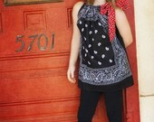 Black and Red Polka Dot - Bandana Dress