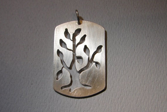 Sterling Silver Tree Cut Out Pendant