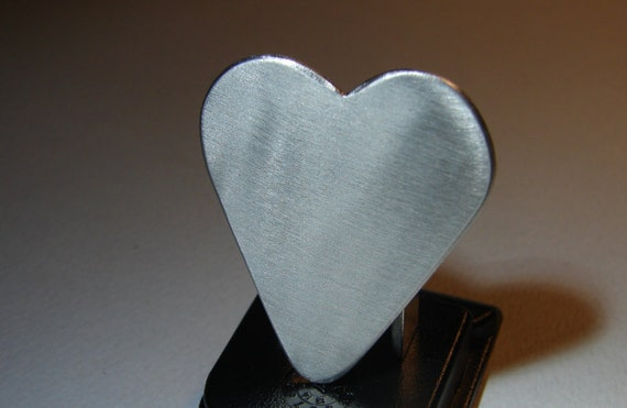 Guitar Pick Heart Handmade from Aluminum Customize Me
