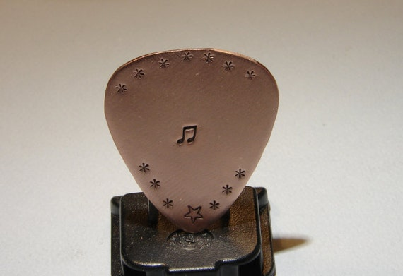 Copper Guitar Pick Handmade for the Serious Musician
