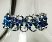 For Little Wrists - Chain Maille in Aluminum for Kids - Japanese Lace Weave - Free Shipping - Ready to Ship