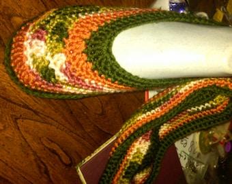 Booties-Hand Crochet-Gorg--Unique Gift-- sz Lg
