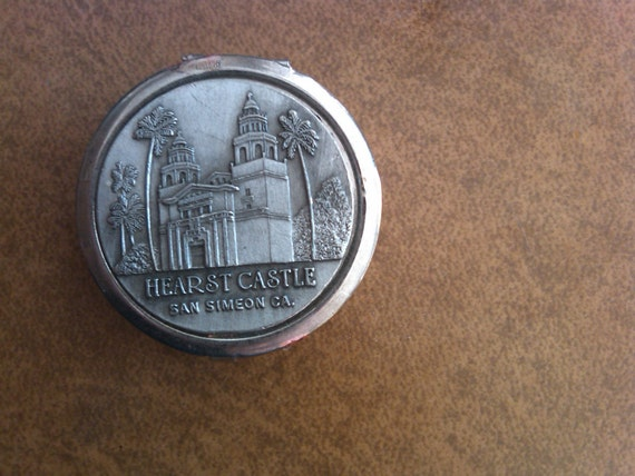 Hearst Castle Vintage Pill Box--Low Price  20% off all 40 Dollar and under Vintage Listings-- SALE--FREE Gift Wrap