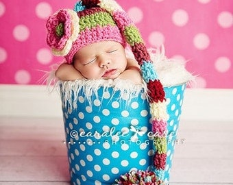 Baby Girl Multi-Colored Elf Hat