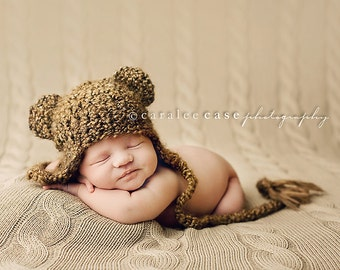 Teddy Bear Beanie Photography Prop