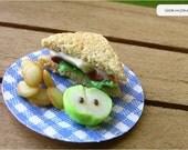 BLT Sandwich Picnic Plates- 1/12 scale (Set of 2)