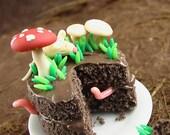 RESERVED FOR MINTERIORS Magic Mushroom Woodland Cake Set- 1/12 scale