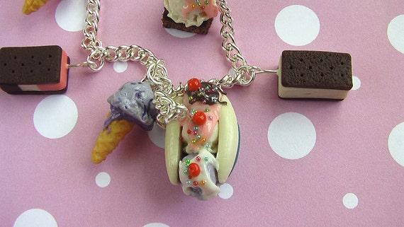 Charm Bracelet - Ice Cream Parlor Sweets (Sundaes, Banana Split, and More)