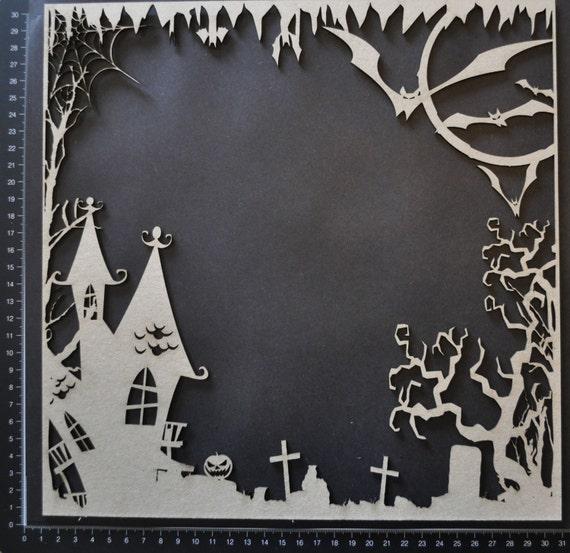 Dusty Attic Chipboard Halloween Frame Set Da0611 Scrapbooking