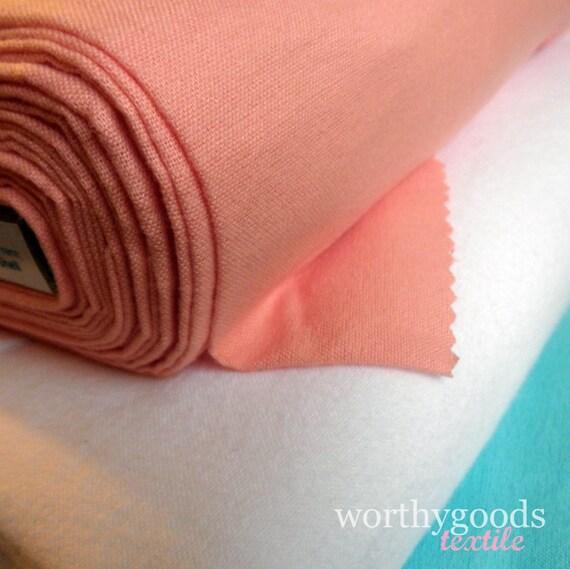 Shell Pink Brushed Organic Cotton - Fat Quarter - Cloud9 Fabrics - Flannel Like