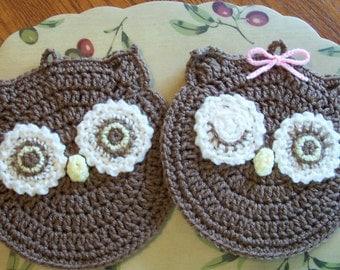 MR and MRS HOOT Wall Hangings / Potholders