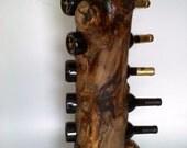 Standing wine rack in Solid Burl aspen - AspenBottleHolders