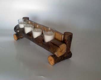 Aspen Candle Holder with glass votives
