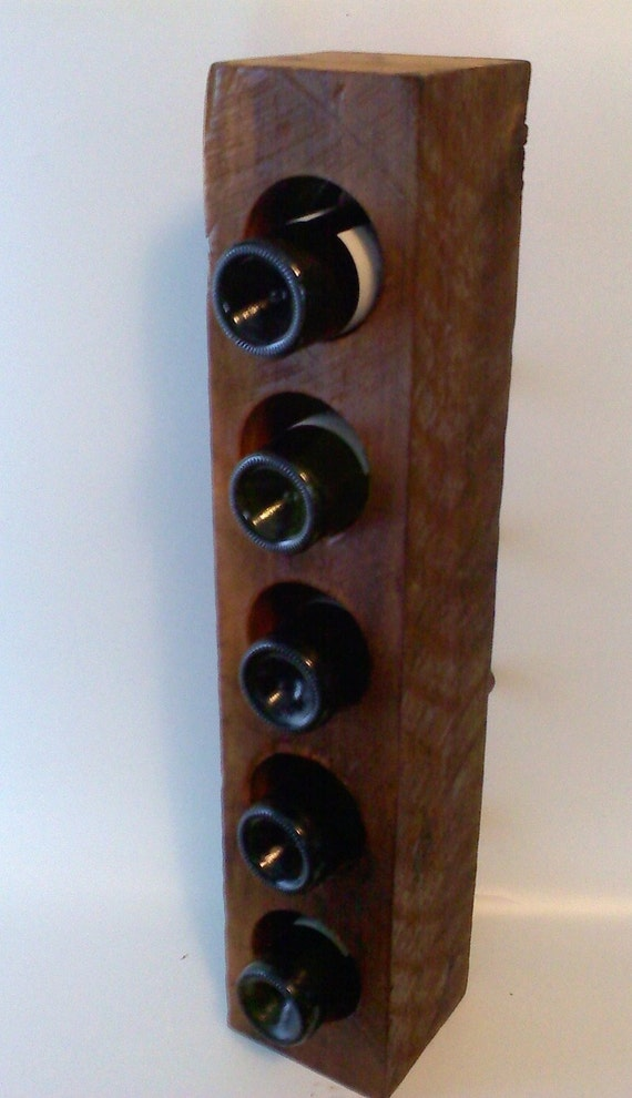 Cedar timber floor standing wine rack for Floor wine rack