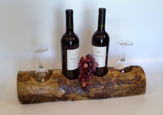 Tabletop Wine and Glass Rack Handmade