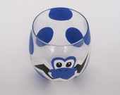 Yoshi Egg Glass- One hand painted Mario Inspired Drinking Glasses