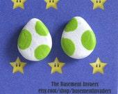 Light Green Yoshi Egg Earrings