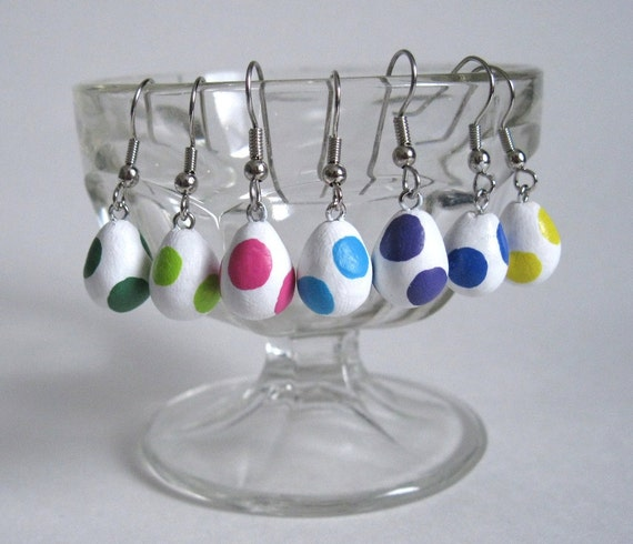 Mix-and-Match Yoshi Egg Earrings in a Rainbow of Colors