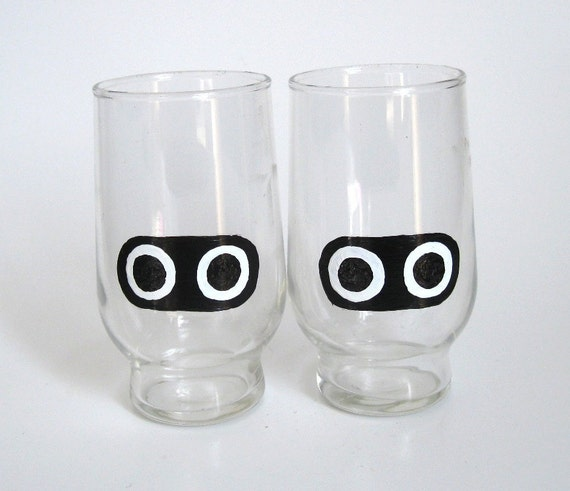 Blooper Drinking Glasses- Set of Two Mario Inspired Drinking Glasses