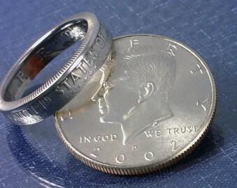 COIN RING U.S. Franklin Half Dollar 90% Silver