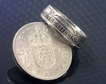 COIN RING JEWELRY  -  (( British One Shilling ))  - (Choose The Ring Size You Want)