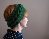 Green Braided Knitted Headband