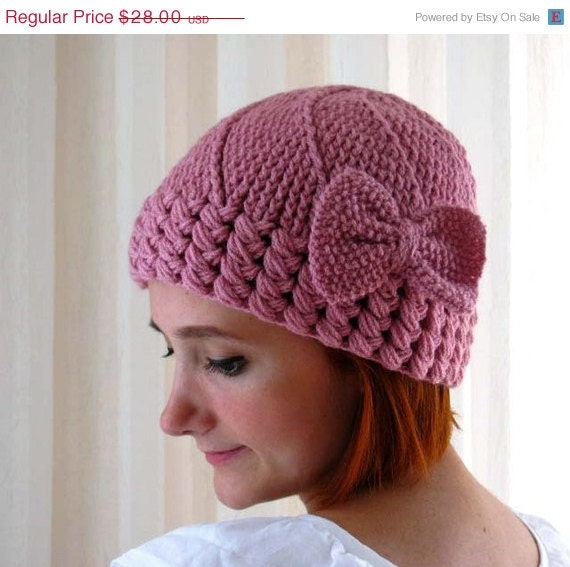 ON SALE 15% Discount Sweet Pink Bow Hat