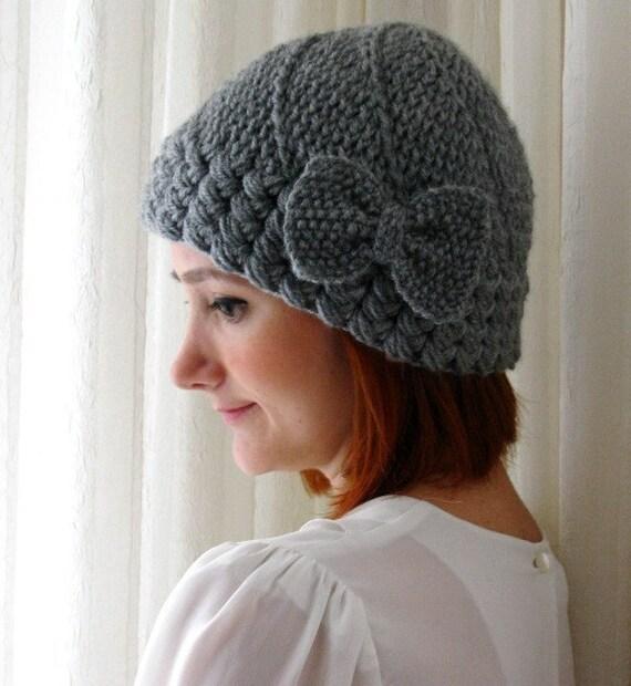 Grey Bow Hat
