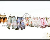 Lovely Laundry on the Clothesline (print 4) 5x7