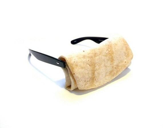 PEEP THESE \/ absurd eyeglasses - burrito, brick, and sponge