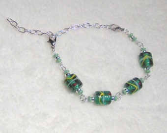 Beaded Watch Band or Bracelet plus Matching Earrings