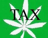 Tax  Marijuana Bumper Sticker