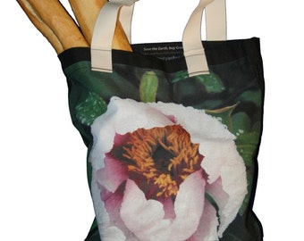 Eco Friendly Pink Tree Peony Tote