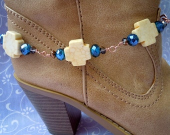 Don't Make Me Cross Yellow Cross Boot Candee Boot Bracelet