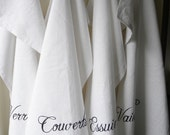 Set of 4 French words cotton tea towels - Etsy Front Page item - TheNestUK