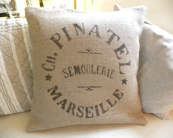 Burlap (hessian) replica french grain sack pillow cover - Etsy Front Page item