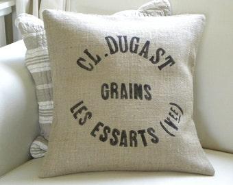 Burlap  (hessian)replica french grain sack pillow cover