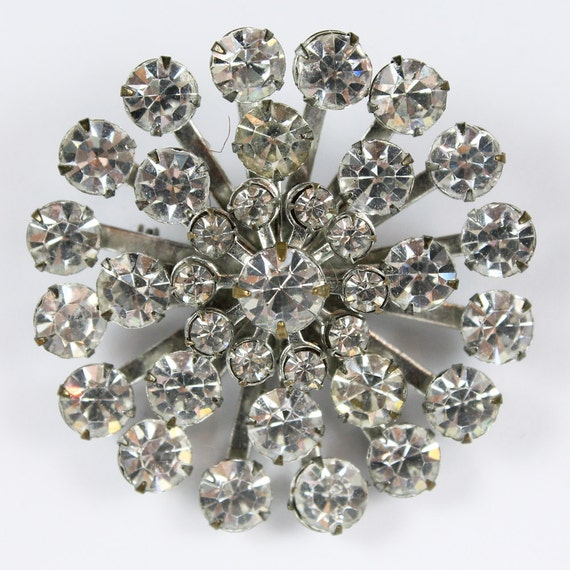Brillant Rhinestone Star Burst Brooch