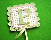 3 Letters Only Personalized Name Cake Toppers Cupcake Toppers